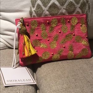 Shiraleah Chicago Pineapple Zip Pouch